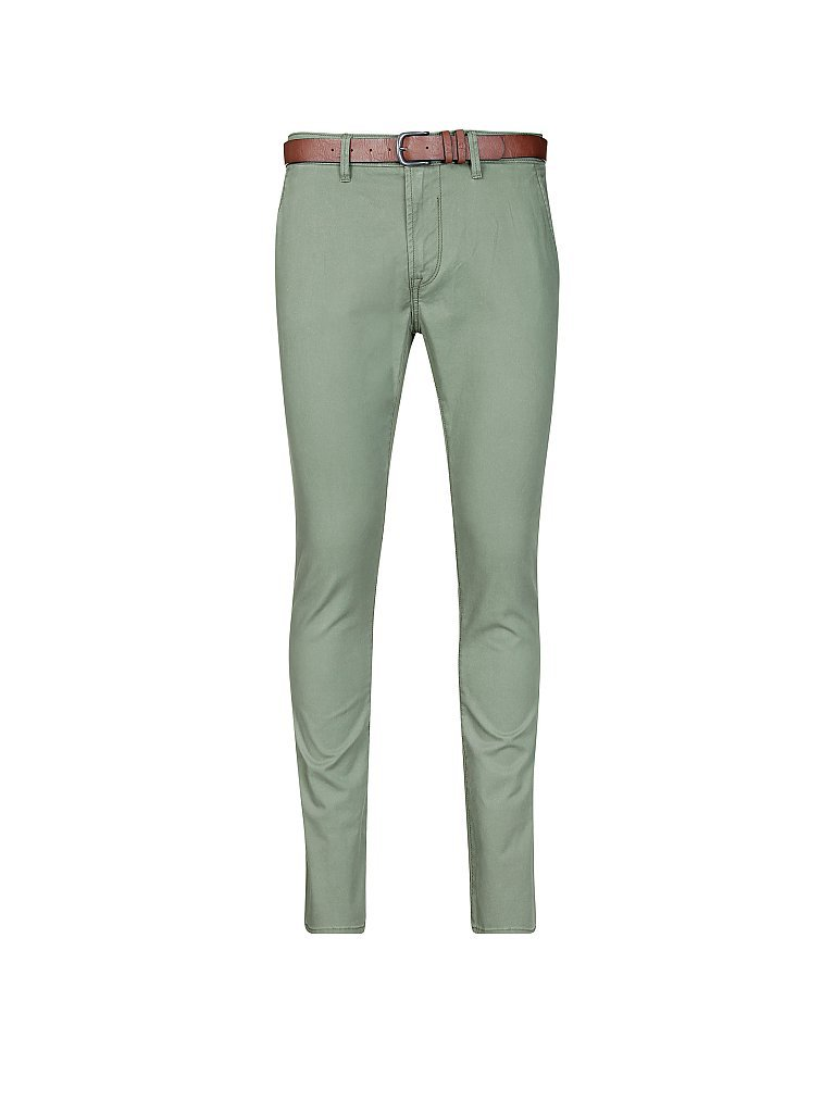 TOM TAILOR DENIM Chino Skinny-Fit grün | W33/L32