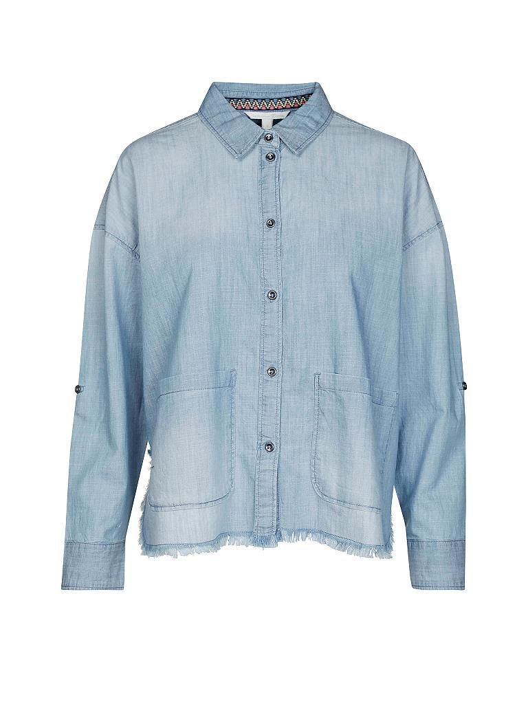 tom tailor denim bluse in denimoptik blau s. Black Bedroom Furniture Sets. Home Design Ideas
