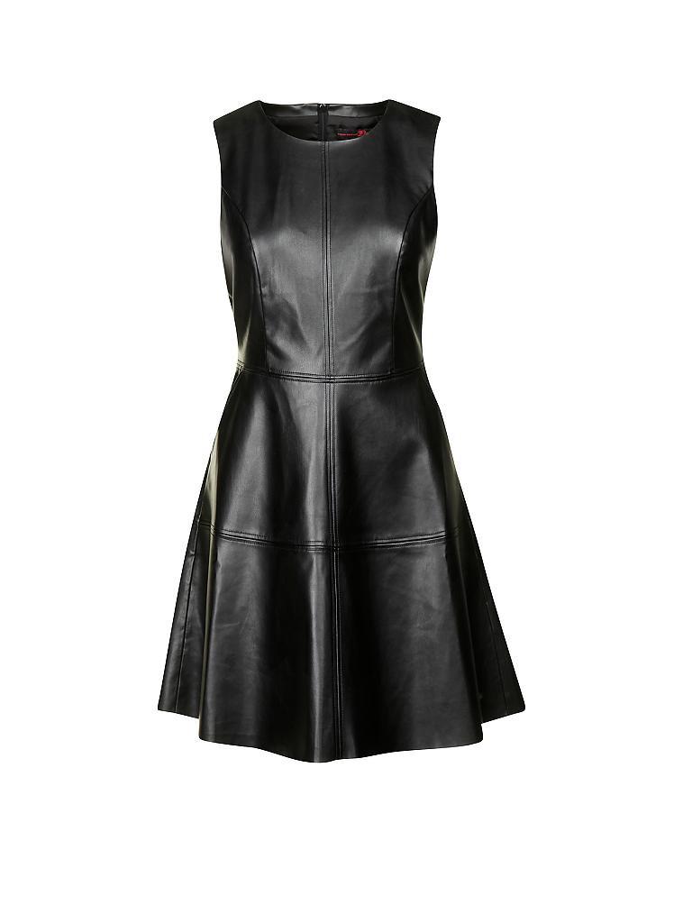 tom tailor denim kleid in lederoptik schwarz xs. Black Bedroom Furniture Sets. Home Design Ideas