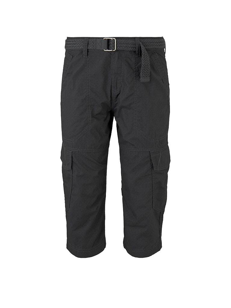 TOM TAILOR | Cargo Bermuda Regular Fit 3/4 | schwarz