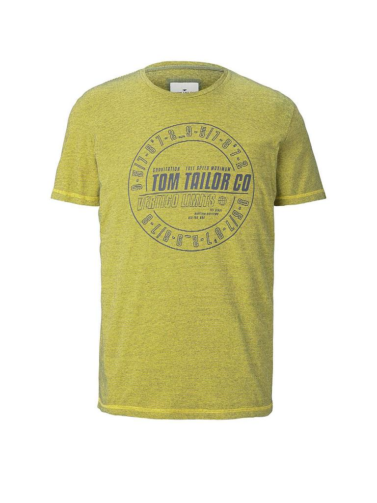 TOM TAILOR | T Shirt  | gelb