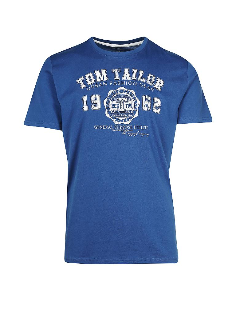 TOM TAILOR | T-Shirt Regular-Fit | blau
