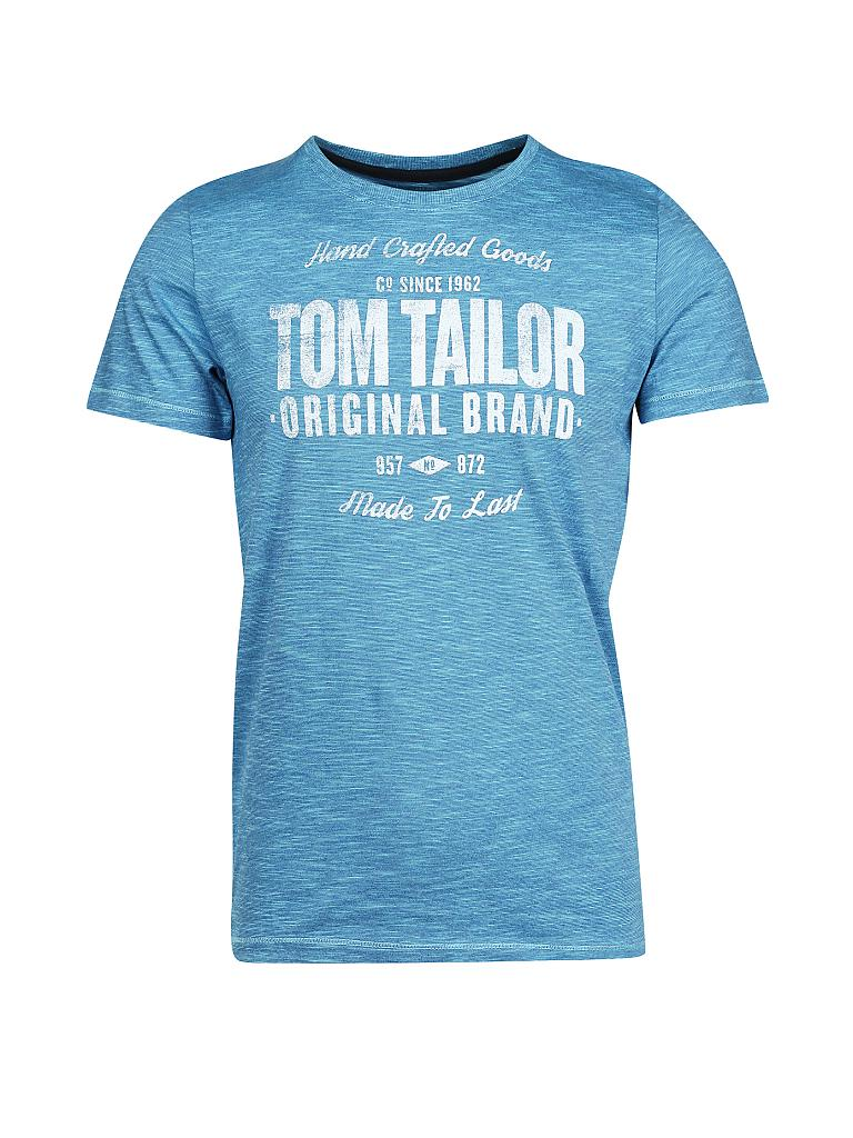tom tailor t shirt blau l. Black Bedroom Furniture Sets. Home Design Ideas