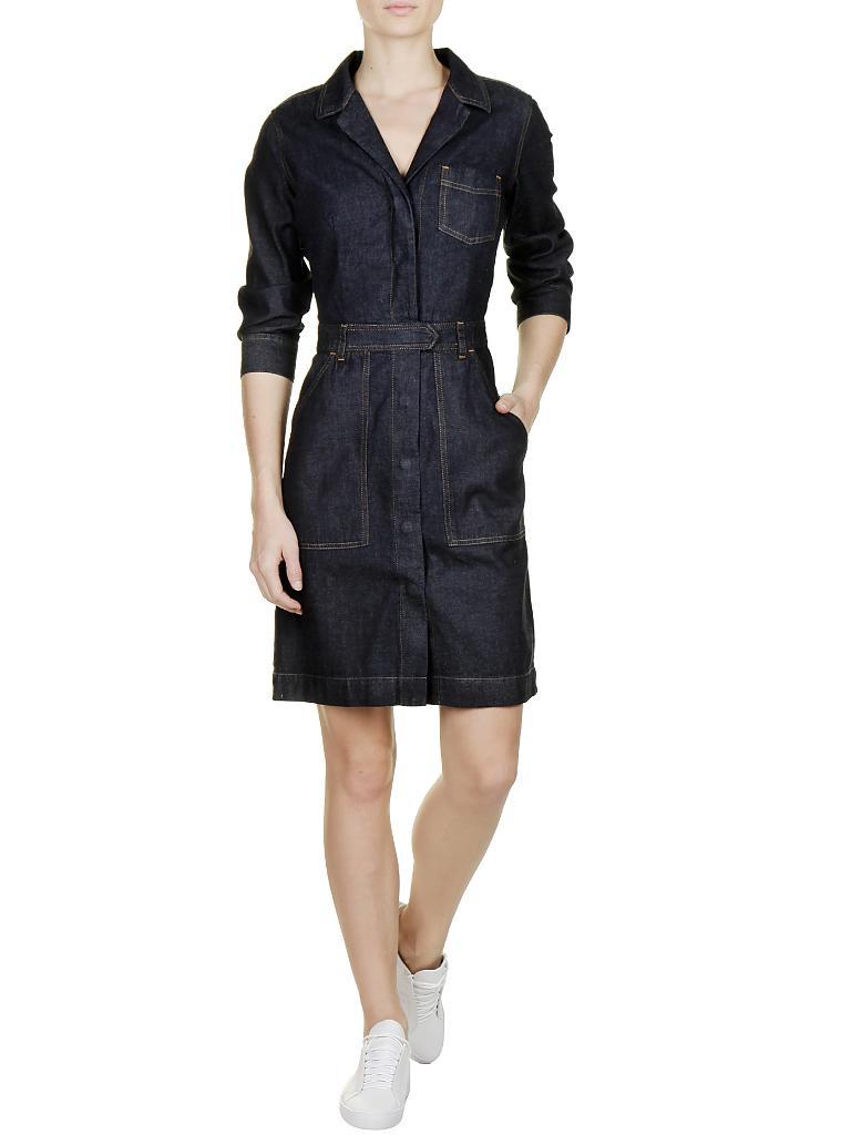 tommy hilfiger jeans kleid cathleen blau 34. Black Bedroom Furniture Sets. Home Design Ideas