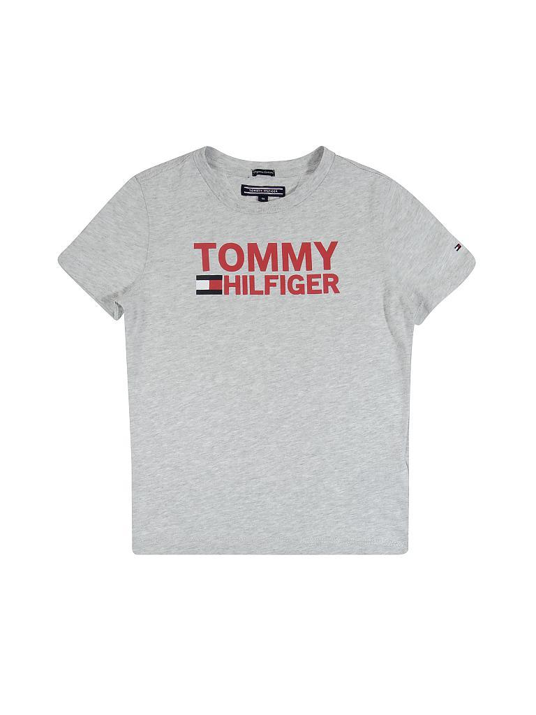 Tommy Hilfiger Kinder T Shirt Logo Grau 116