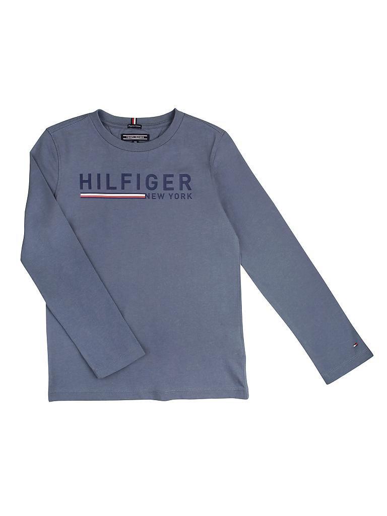 tommy hilfiger knaben langarmshirt blau 116. Black Bedroom Furniture Sets. Home Design Ideas