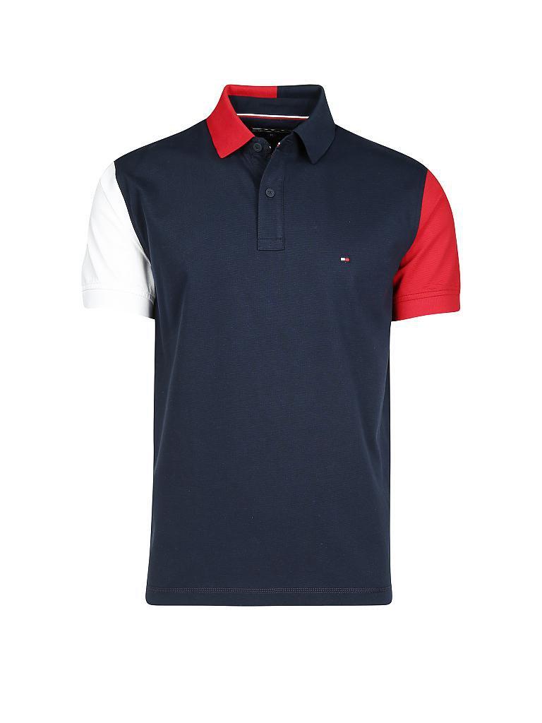 c649a5bb868e TOMMY HILFIGER Poloshirt Regular-Fit blau   S