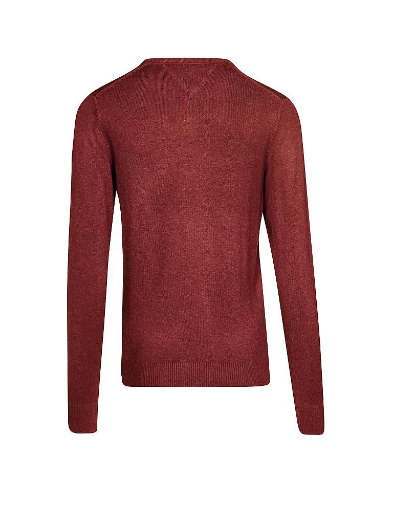 tommy hilfiger pullover regular fit cotton cashmere rot xl. Black Bedroom Furniture Sets. Home Design Ideas