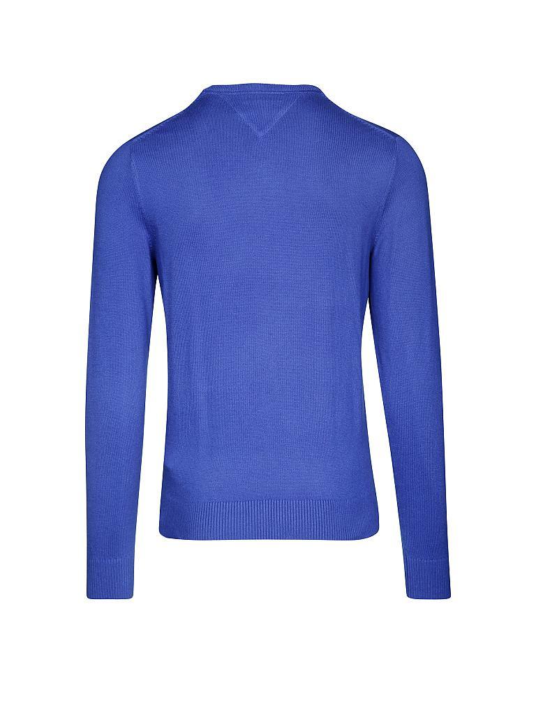 tommy hilfiger pullover regular fit cotton cashmere blau m. Black Bedroom Furniture Sets. Home Design Ideas