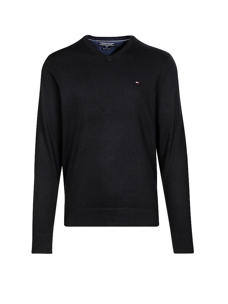 tommy hilfiger pullover regular fit pima cotton cashmere schwarz s. Black Bedroom Furniture Sets. Home Design Ideas