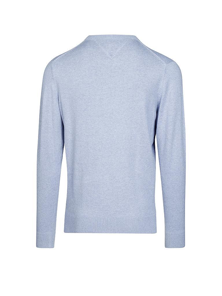 tommy hilfiger pullover regular fit pima cotton cashmere blau s. Black Bedroom Furniture Sets. Home Design Ideas
