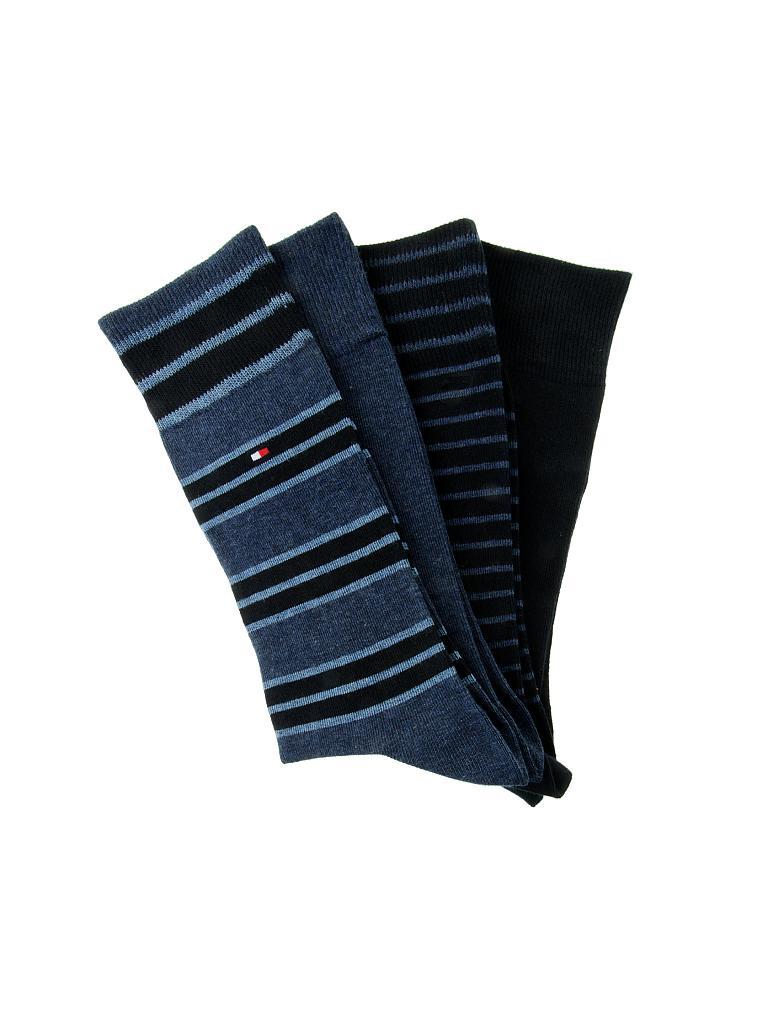 tommy hilfiger socken geschenkbox 4 er pkg blau 39 42. Black Bedroom Furniture Sets. Home Design Ideas