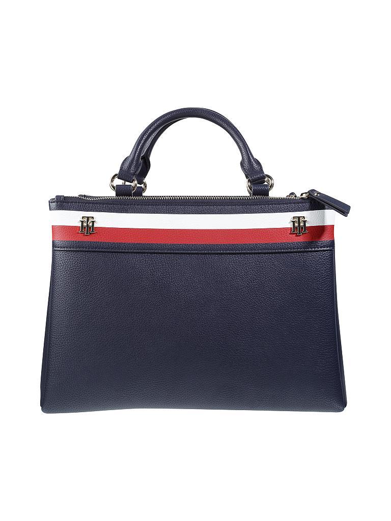 tommy hilfiger tasche handtasche cool hardware blau. Black Bedroom Furniture Sets. Home Design Ideas