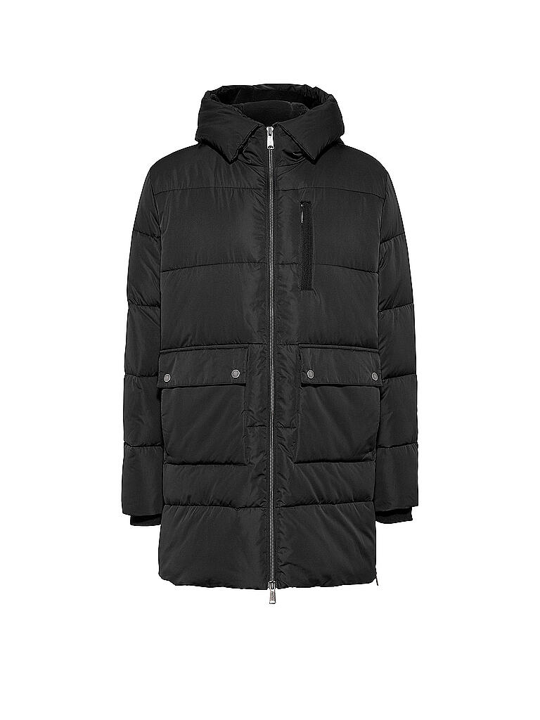 TOMMY JEANS | Parka Regular Fit  | schwarz