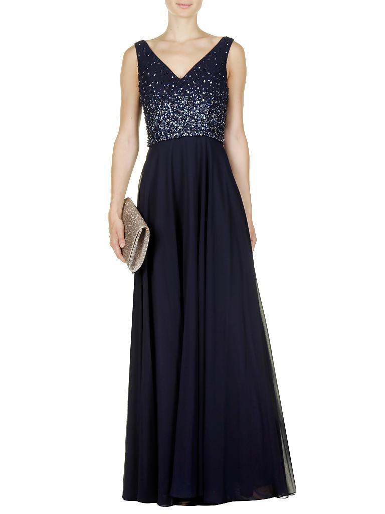 UNIQUE Abendkleid blau   38