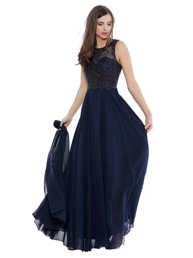 UNIQUE Abendkleid blau   S