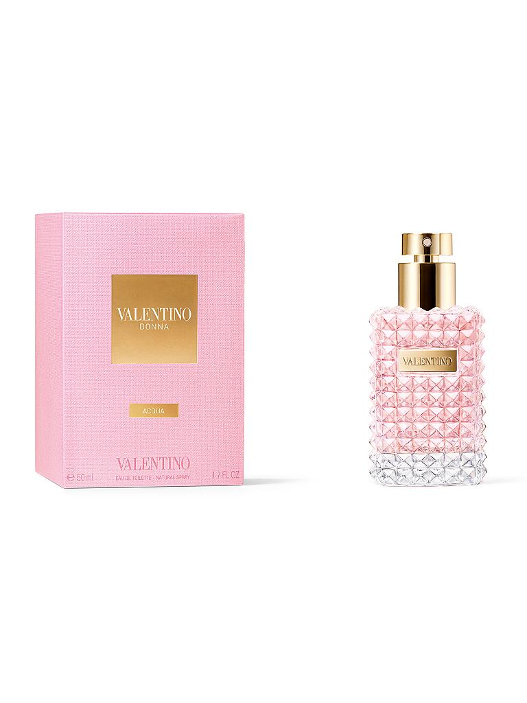 valentino donna acqua eau de toilette 50ml transparent. Black Bedroom Furniture Sets. Home Design Ideas