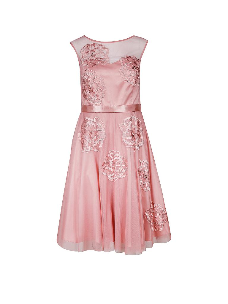 vera mont kleid kurz rosa