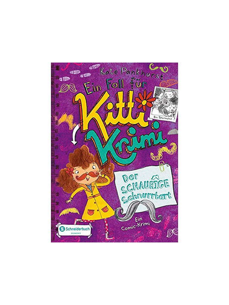 VGS EGMONT SCHNEIDER VERLAG Buch - Ein Fall für Kitti Krimi - Band 08 - Der Schaurige Schnurrbart (Gebundene Ausgabe)