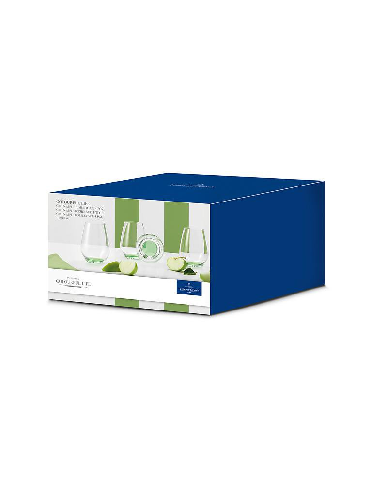 "VILLEROY & BOCH | Gläser-Set 4-tlg. ""Colourful Life"" (Green Apple) 