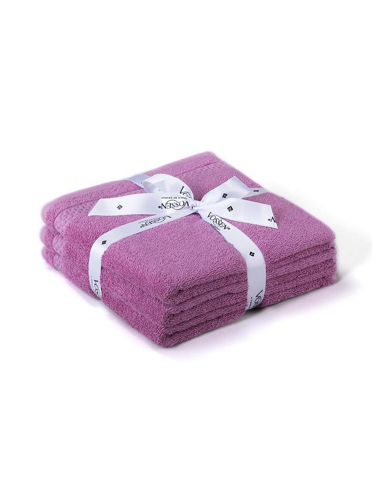 vossen handtuch set missouri 3 tlg 50x100cm viola rosa. Black Bedroom Furniture Sets. Home Design Ideas