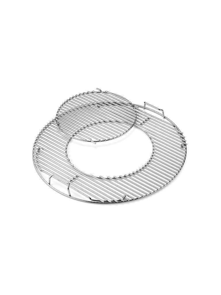 WEBER GRILL Gourmet BBQ System - Grillrost mit Grillrosteinsatz 57cm silber