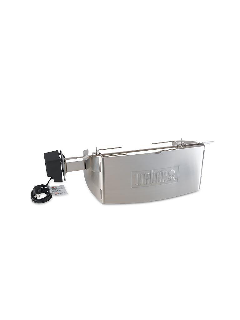 weber grill drehspie f r weber q 200 2000 serie gas und elektro silber. Black Bedroom Furniture Sets. Home Design Ideas