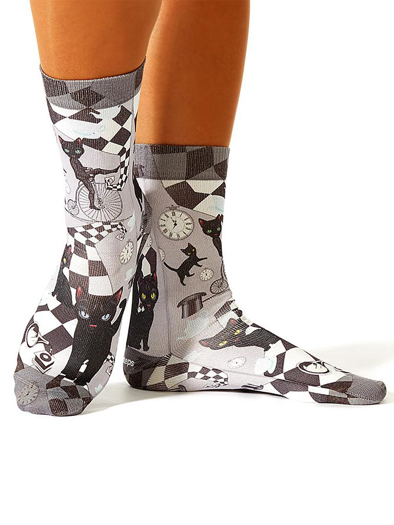 "WIGGLESTEPS | Socken ""Chess Cat"" 