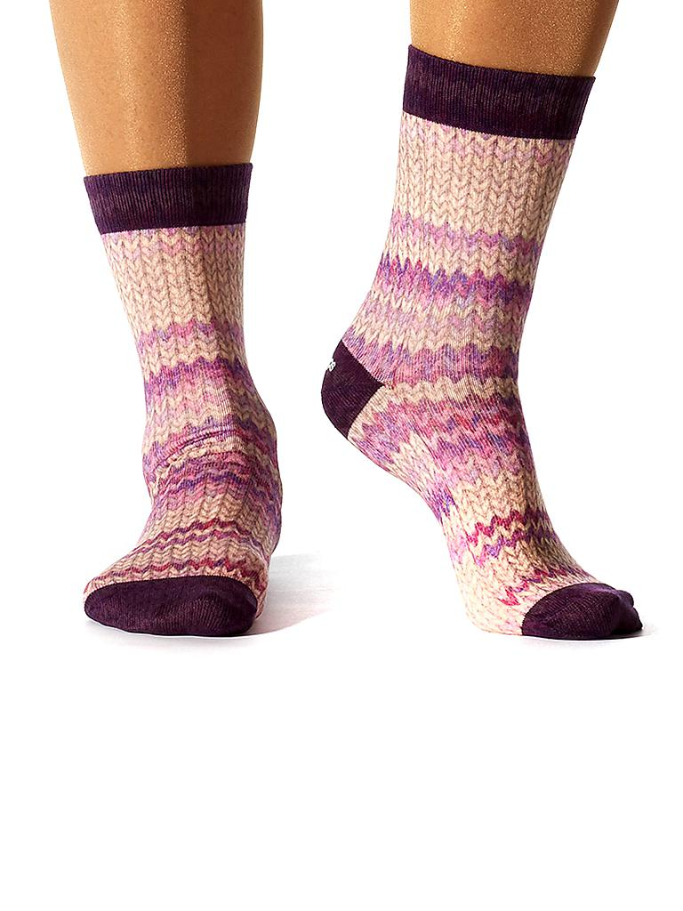 "WIGGLESTEPS | Socken ""Purple Knit"" 