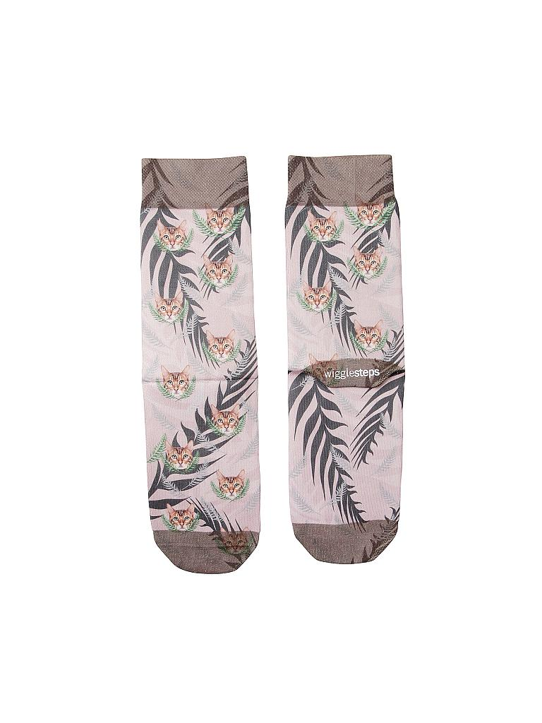 "WIGGLESTEPS | Socken ""Tropical Cat"" 