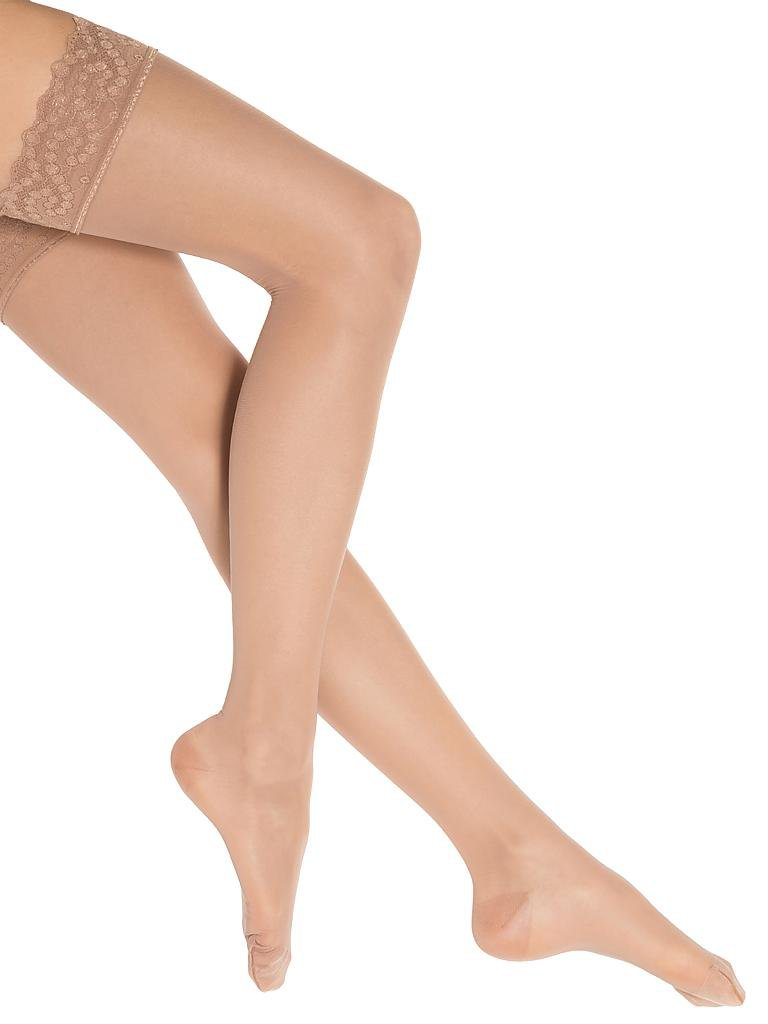 "WOLFORD | Strümpfe ""Miss W 30 Leg Support Stay-Up"" (gobi) 
