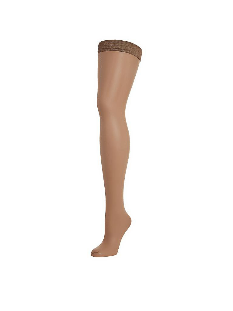 "WOLFORD | Strümpfe ""Naked 8 Stay-Up"" (gobi) 