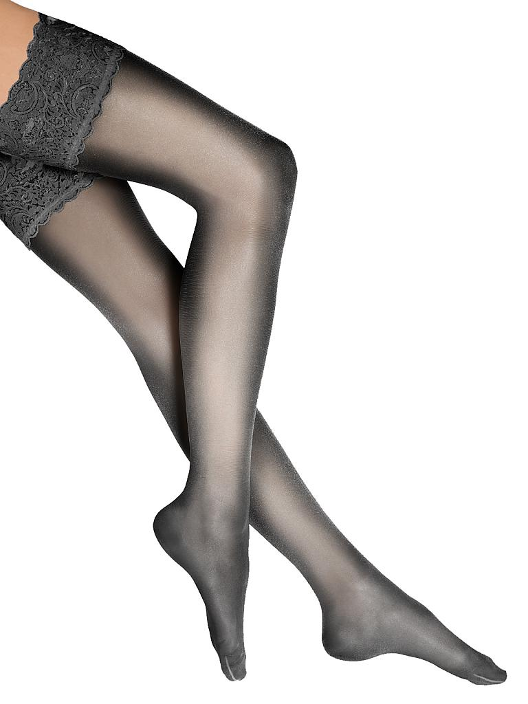 "WOLFORD | Strümpfe ""Satin Touch 20 Stay-Up"" (black) 