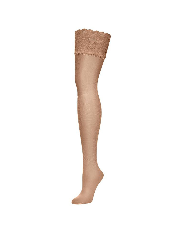 "WOLFORD | Strümpfe ""Satin Touch 20 Stay-Up"" (gobi) 