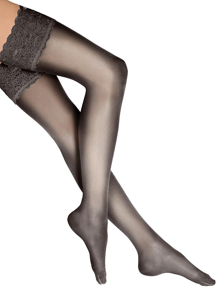 "WOLFORD | Strümpfe ""Satin Touch 20 Stay-Up"" (nearly black) 