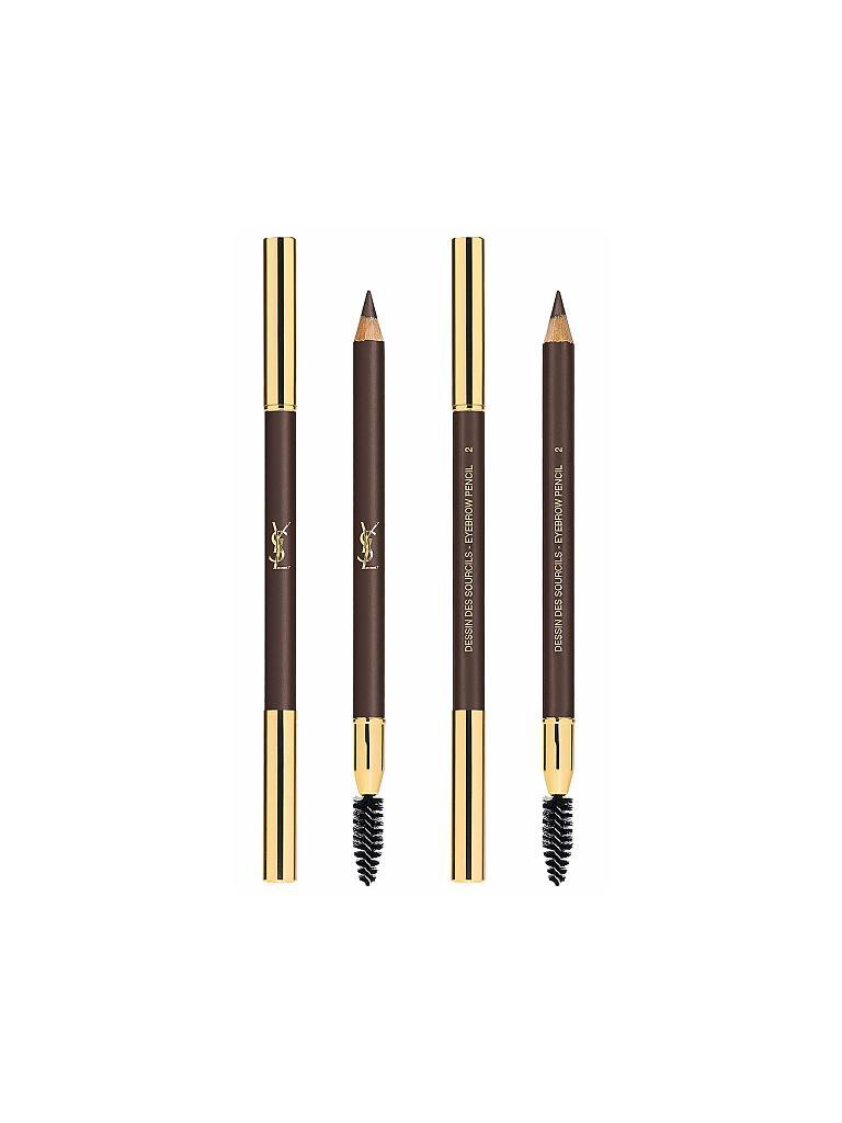 YVES SAINT LAURENT | Augenbrauen - Dessin Des Sourcils (02 Dark Brown) 1,3g | braun