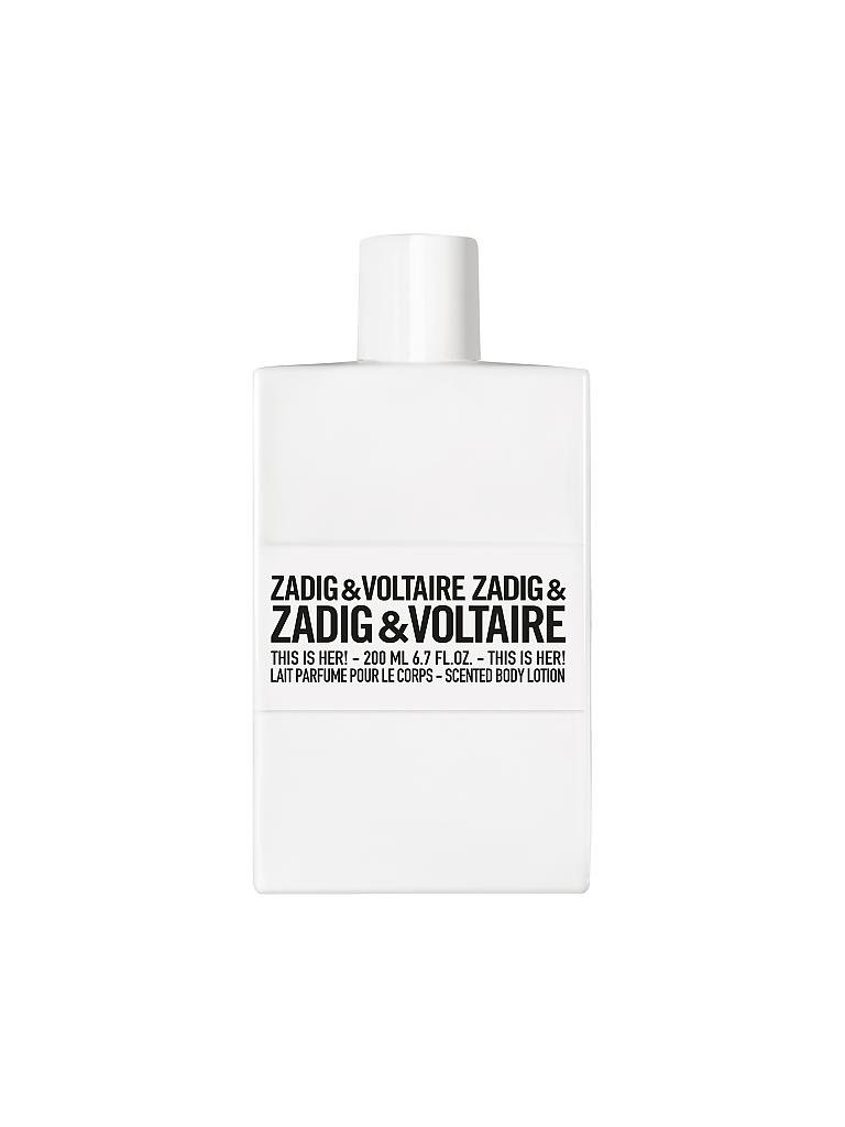 ZADIG & VOLTAIRE | This Is Her! Body Lotion 200ml | transparent